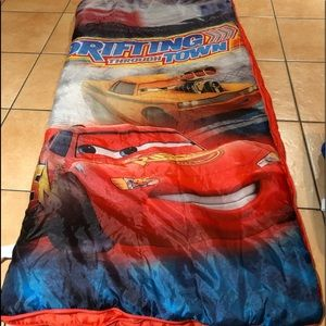 Disney Cars Sleeping Bag with Luggage Bag